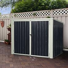 Costway Gartenbox Wasserdicht Mülltonnenbox