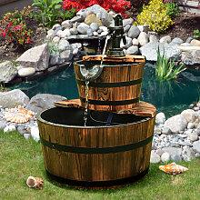 Costway Gartenbrunnen Holz Brunnen Holzbrunnen