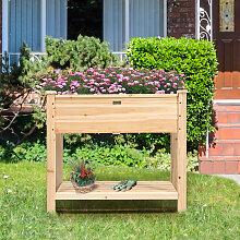 Costway Gartenhochbeet Holz-Hochbeet mit Beinen