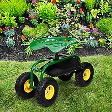 Costway Gartenwagen mit Arbeitssitz. Für