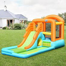 Costway Hüpfburg aufblasbar Spielpool Wasserspiel