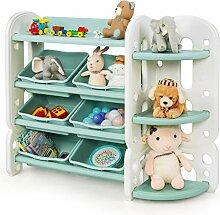 COSTWAY Kinder Spielzeugregal mit 6