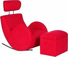 COSTWAY Kindersessel Sessel SofaKindercouch Kindersofa Babysessel Schaukelsofa Kindermöbel (Rot)
