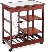 COSTWAY Küchenwagen 3 Ablagen Küchenregal