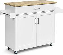 Costway Küchenwagen Rollbar Kücheninsel