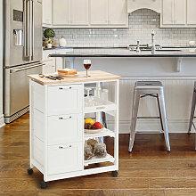 Costway Küchenwagen Rollbare Kücheninsel