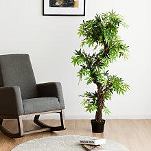 Costway Kunstpflanze Künstliche Deko-Pflanze