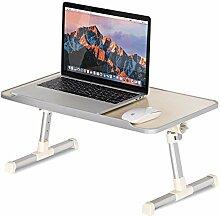 COSTWAY Laptoptisch mit Lüfter Betttablett