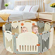 Costway Laufgitter Baby Laufstall Kinder