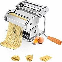 COSTWAY Nudelmaschine manuell, Pastamaschine mit 2