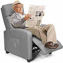 COSTWAY Relaxsessel mit verstellbaren Rückenlehne
