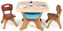COSTWAY Sitzgruppe Kinder, 3tlg. Kindersitzgruppe,