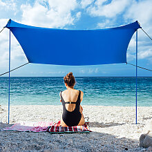 Costway Sonnensegel Camping Sonnenschutz mit 4