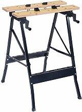 COSTWAY Spanntisch Arbeitstisch Werkbank Werktisch Werkstatt Maschinentisch Werkzeugtisch inkl. 4 Kunststoffbacken klappbar 100kg