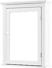 COSTWAY Spiegelschrank Bad Wandschrank mit Spiegel
