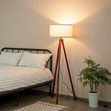 COSTWAY Stehlampe Stativ, Standlampe Holzgestell