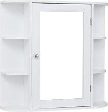 COSTWAY Wandschrank Badezimmer Spiegelschrank mit