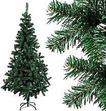 COSTWAY Weihnachtsbaum künstlicher Tannenbaum Christbaum Kunstbaum Dekobaum mit Metallständer 150cm/180cm/210cm/240cm grün (150cm)