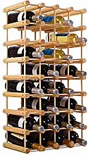 COSTWAY Weinregal aus Holz, Flaschenregal für 40