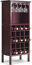 COSTWAY Weinregal mit Weinglashalter Flaschenregal