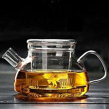 Cosy-Yc Glas-Teekanne mit Teesieb, Teekanne mit
