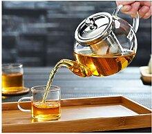 cosy-ycy hochwertiges Borosilikatglas Teekanne