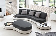 COTTA Big-Sofa Kunstleder SOFTLUX® / Struktur,