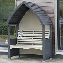 Cottage Heritage anthrazit & Pilz Luxus Garten Gartenlaube Mit Luxus Sitzkissen