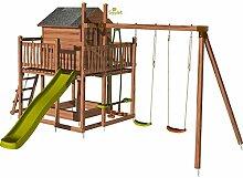Cottage Spielplatz für Kinder, mit Gestell