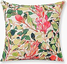 Cotton And Linen Pillow,Plant Thickening Sofa Decoration Cushion Cover-C 53x53cm(21x21inch)VersionB