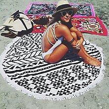 Cotton Badetuch gedruckt Strandmatte mit Fransen Schal um