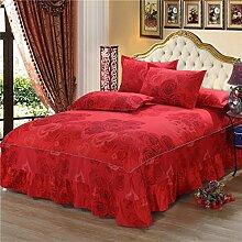 Cotton Bedspread Bett Rock Matratzenschoner Mehrfarbig Multi-size,Red-150*200cm
