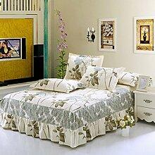 Cotton Bedspread Bett Rock Matratzenschoner Mehrfarbig Multi-size,Gray-135*200cm