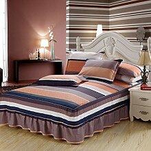 Cotton Bedspread Bett Rock Matratzenschoner Mehrfarbig Multi-size,Brown-200*220cm