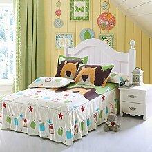 Cotton Bedspread Bett Rock Matratzenschoner Mehrfarbig Multi-size,Beige-120*200cm
