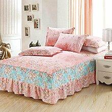 Cotton Bedspread Bett Rock Matratzenschoner Mehrfarbig Multi-size,Pink-150*200cm