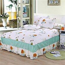 Cotton Bedspread Bett Rock Matratzenschoner Mehrfarbig Multi-size,White-135*200cm