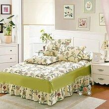 Cotton Bedspread Bett Rock Matratzenschoner Mehrfarbig Multi-size,Green-120*200cm
