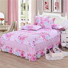 Cotton Bedspread Bett Rock Matratzenschoner Mehrfarbig Multi-size,Purple-135*200cm