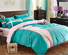Cotton four sets of bedding, European and American style fashion leisure cotton sets of bedding