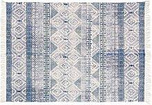 Cotton handgewebte Teppiche Moderne einfache Schwimmdock Fenster und Decke Bedside Bedside weiche Soft Skin Faltbare leicht zu reinigen