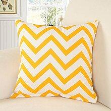 Cotton Home Kissen / Bett große Rückenlehne / Kissen mit dem Kern / Office-Kissen waren waschbar ( Farbe : Golden , größe : 45*45cm )