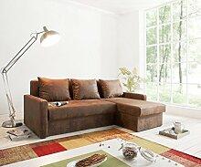 Couch Avondi Braun 225x145 Antik Optik Schlaffunktion Ottomane variabel