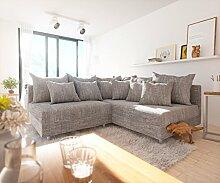 Couch Clovis modular - Ecksofa, Sofa, Wohnlandschaft & Modulsofa (Hellgrau, Ecksofa Rechts)