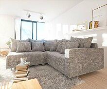 Couch Clovis modular - Ecksofa, Sofa, Wohnlandschaft & Modulsofa (Hellgrau, Ecksofa Rechts mit Armlehne)