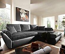 Couch Loana Schwarz 275x185 Schlaffunktion
