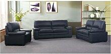 Couchgarnitur Leder 3+2+1 MIMAS - Büffelleder -