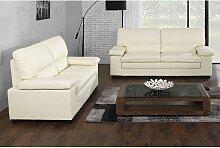 Couchgarnitur Leder 3+2 MIMAS - Büffelleder -