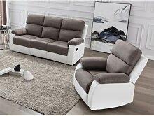 Couchgarnitur mit Relaxfunktion 3+1 TOLZANO -