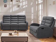 Couchgarnitur mit Relaxfunktion 3+2 GIORGIA -